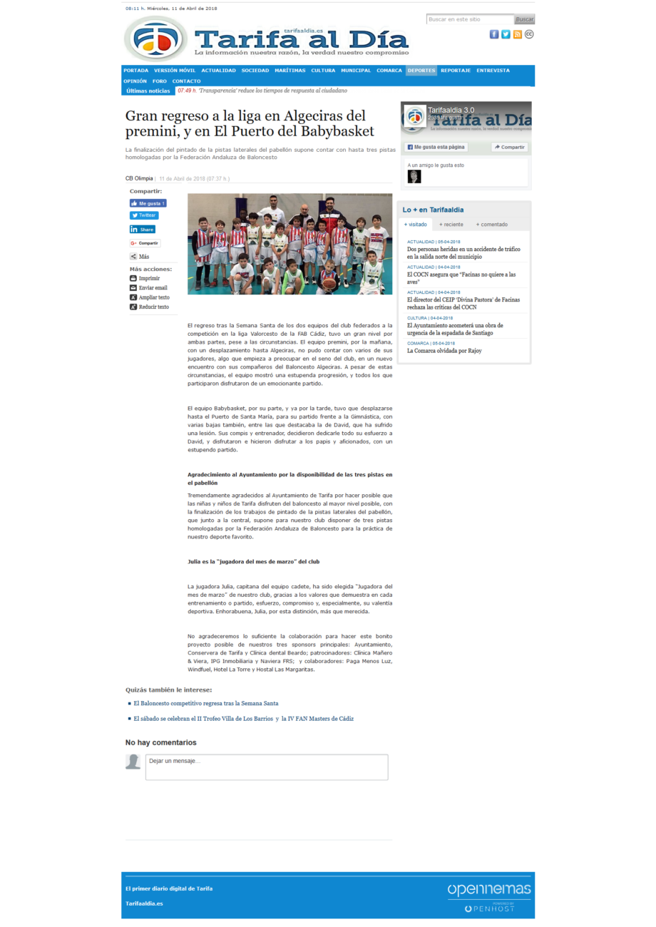 Screenshot-2018-4-11 Gran regreso a la liga en Algeciras del premini, y en El Puerto del Babybasket